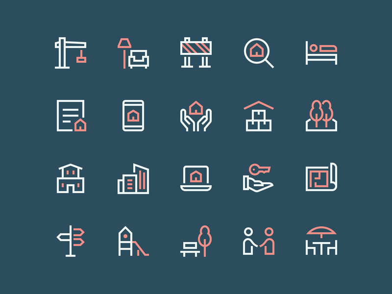 New Real Estate Icons real estate app home house property construction icons real estate nucleo