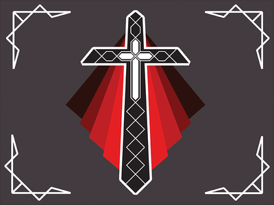 Romeo & Juliet // Friar Laurence Crest cross religious design logo crest kennedy center larp shakespeare juliet romeo