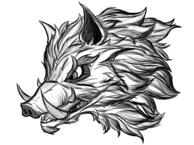 Tabletop // Boar tablet wacom photoshop studio clip drawing sketch schoolboy boy boar tabletop