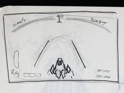 F-Zero UI Idea Basis basis sketch ui game nintendo f-zero