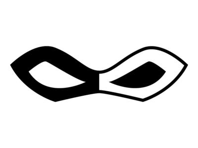 Domino Mask / WIP Logo inverse superhero hero black and white design badge icon logo wip domino mask