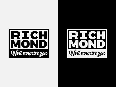 "Richmond, VA - ""We'll Surprise You"" Campaign logo city logo va virginia richmond"