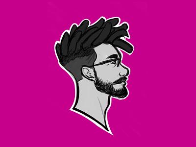 Selfie •2019 profile branding illustration portrait self-portrait self