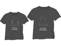Tshirt design for myntra  tech employess