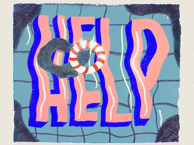 we all need a little **** pool procreate illustration help
