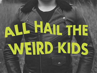 preliminary type treatments for a huge project warped type weird kids
