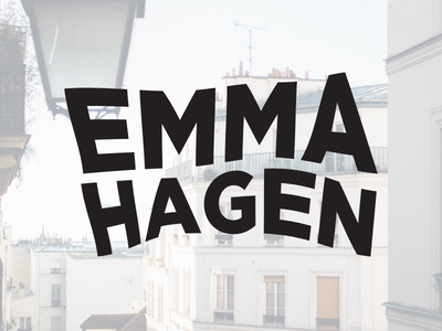 Portfolio Cover  book design portfolio emma emma hagen warped type