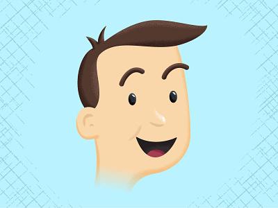 Hi Neighbor character illustration 50s illustrator