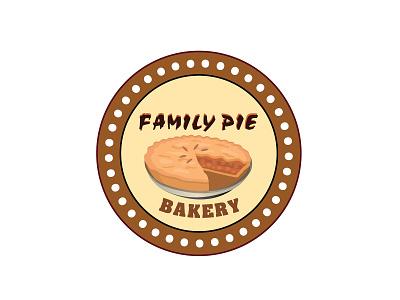 LOGO DESIGN for FAMILY PIE 3d designlogo family pie bakery logo pdf eps ai pds photoshop graphic design ui logo illustration digital illustration design digital art coloring branding artwork art