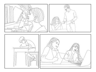 Line Drawing graphic design vector artwork art coloring illustration digital illustration design sketch line draw line art
