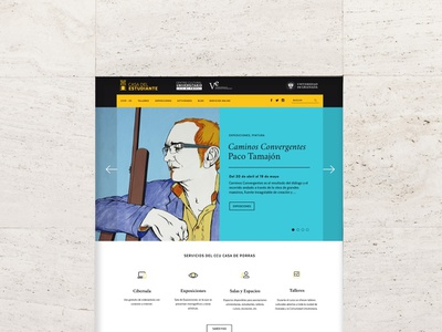 Casa del Estudiante. Web Design + Logo Design web logo ui design
