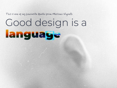 Good Design is a Language - Massimo Vignelli