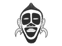 Masked face.