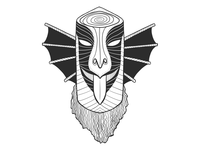 Bird mask.