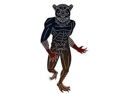 Man Bear bear man mask tribal african graphic design graphic vector illustrator illustration