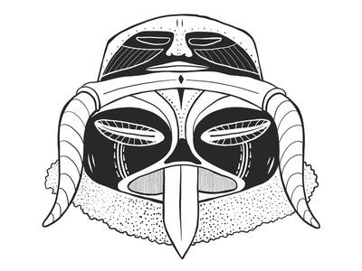 Double headed mask. draw drawing blackandwhite mask tribal african graphic design graphic vector illustrator illustration