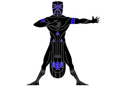 Oshosi oshosi tribal candomble ifa voodoo god african graphic vector illustrator illustration
