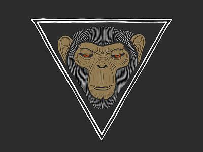Angry Ape gorilla monkey ape graphic vector drawing illustrator illustration