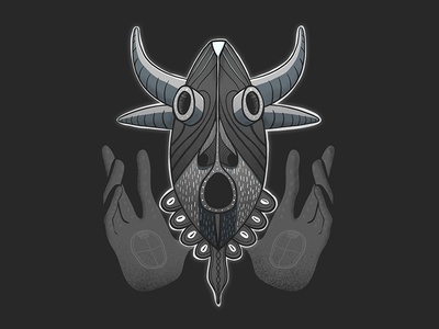 Hooooo! characterdesign design character tribal mystical graphic illustrator hands mask african