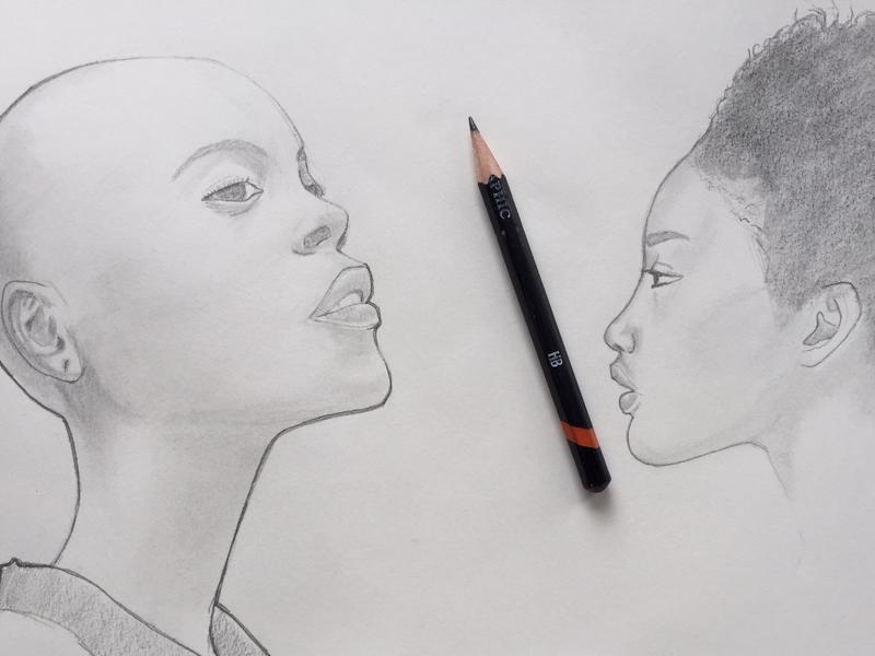Studies graphite woman study pencil portrait drawing