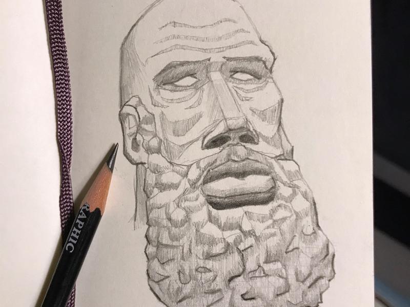 Sketch study beard sketchbook sketch pencil moleskine drawing