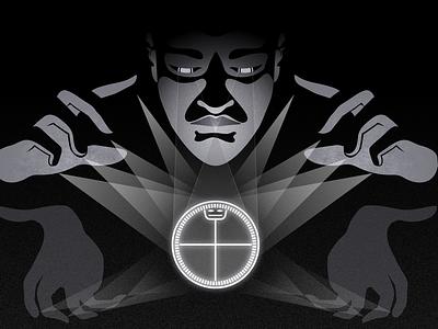 Flow light black affinity designer graphic spiritually vision hands ifá illustration flow