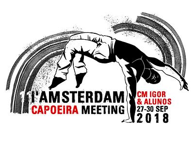 I'Amsterdam Capoeira meeting 2018 amsterdam martial art design graphic capoeira