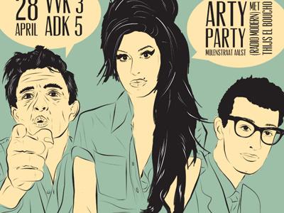 Blendervintage Web poster illustration festival print blender vintage
