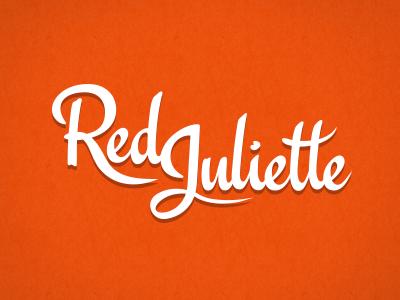 Red Juliette typography identity logo