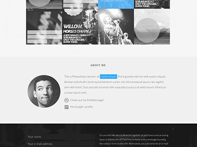 Personal website portfolio web showcase
