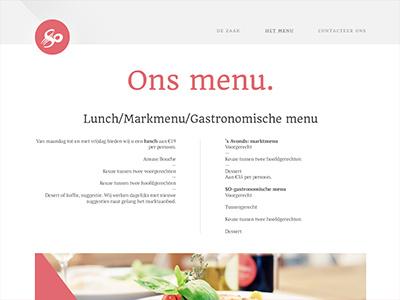 Restaurant wip website