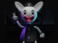 NUSA Mascot studio design mascot render 3d blender3d blender