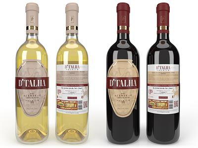 D'Talha Wine Label Design art direction wine premium luxury clean 3d render graphic