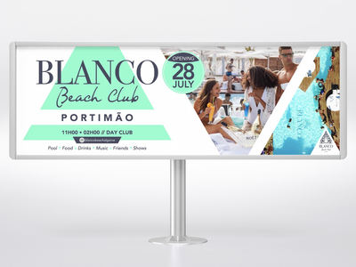 Blanco Beach Club triangle minimal clean blanco studio outdoor design graphic