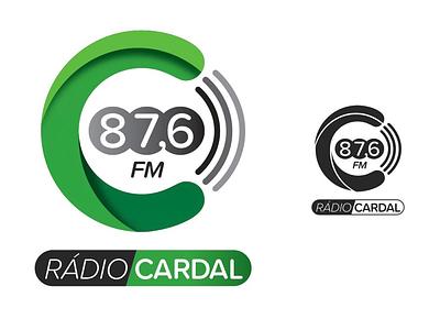Rádio Cardal. creative studio graphic c circular green modern clean cardal radio design logo