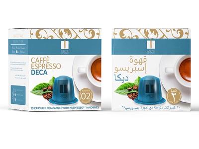 Caffe Ottavo. clean modern coffee caffe studio packaging design graphic