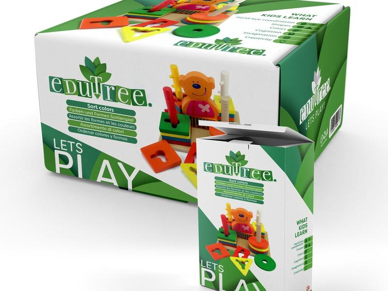 Edutree - Packaging Designs graphic design logo kids toys studio graphic design packaging