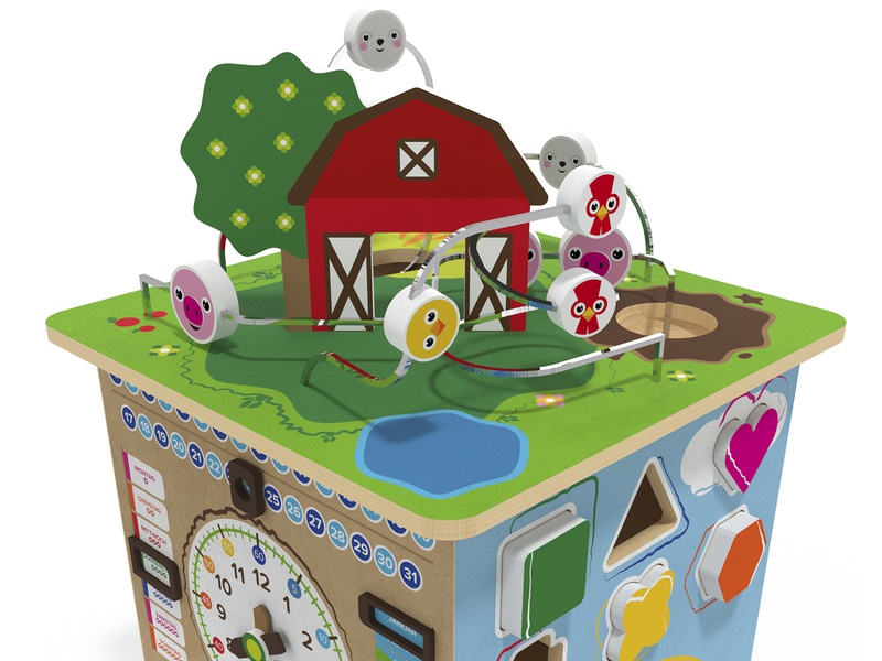 Activity Cube Product Design render kids toy design product digital 3d graphic