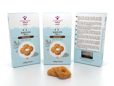 Sesame Packaging Design minimal clean biscuits studio freelance graphic design packaging