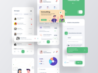 Financial Business Exchange Portal chart illustration messaging job create job app dashboard dashboard ui dashboad finance app finance minimal wave ios application redesign card ux design app ui