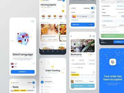 Food Delivery Application #1 restaurant checkout filter success toast tracking illustraion cart delivery food ecommerce ios minimal application redesign card ux design app ui