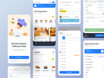 Food Delivery Application #2 toast toasty restaurant tracker tracking illustraion checkout cart delivery app delivery food app food minimal application redesign card ux design app ui