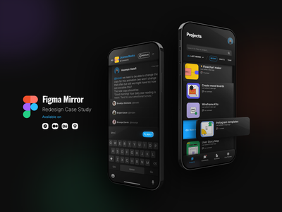 Figma Mirror App Redesign — a Product Design Case Study app design showcase behance figma design figma mirror app case study ux product design figma