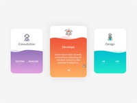 Service card with wave style. (Free PSD)