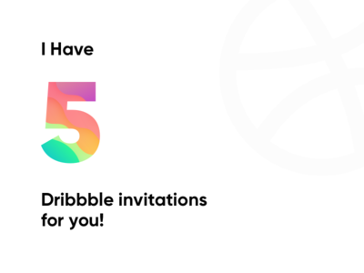 5 Dribbble Invitations Giveaway!