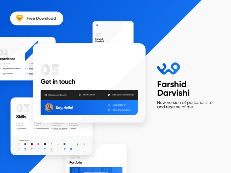 Free Download My new Personal Site and Resume by Farshid