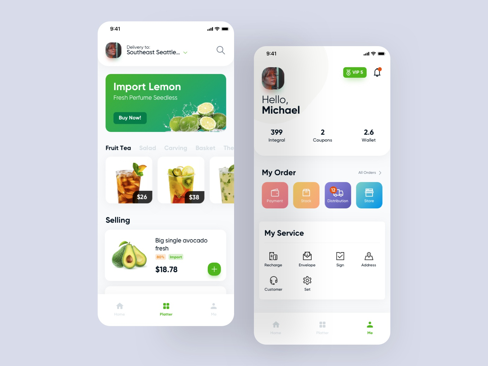 Fruit App Redesign gradient wave ux ecommerce commerce cart card design cool android ios redesign dailyui ui application app food fruit natural fresh