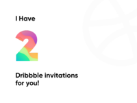 2 Dribbble Invitations Giveaway!