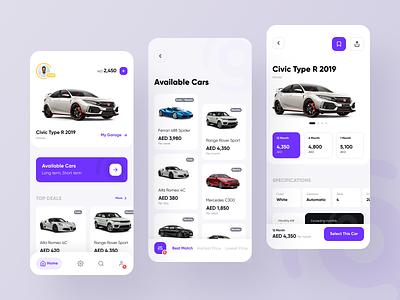 Car Rental app app ios redesign application card ux minimal carasti rental car rental app rental car ui