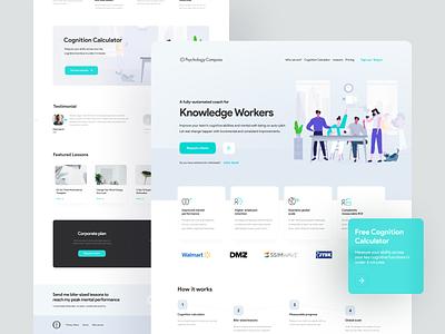 PsychologyCompass Landing Redesign ux web icon typography design illustration branding redesign card ui minimal landing